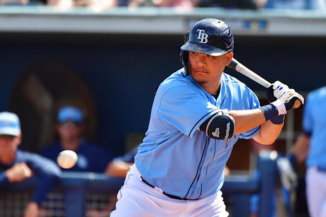 The Rays are hoping Yoshitomo Tsutsugo, signed for $12 million over two years, might add significant power to their lineup as they try to track down the New York Yankees in the AL East. (Photo by Julio Aguilar/Getty Images)