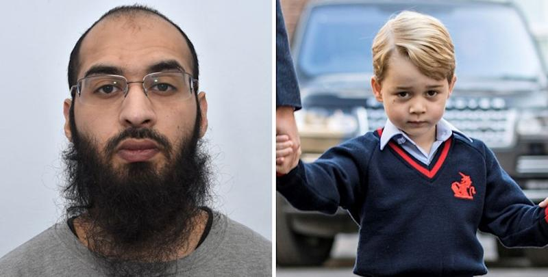 Isis supporter Husnain Rashid admits plot to kill Prince George
