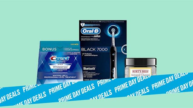 Photo Illustration by Elizabeth Brockway/The Daily Beast * Save up to 59% on dental hygiene products. * Top oral care brands are slashing their prices on electronic toothbrushes, whitening strips, and all-natural toothpaste. * Shop the rest of our other Prime Day deal picks here. Not a Prime member yet? Sign up here.Now that the weather outside is muggy AF, we'll take any opportunity to feel even remotely fresh. That's why we're excited about these new Prime Day offerings from Oral-B, Crest, and Burt's Bees, including a coconut charcoal-activated toothpaste, a rechargeable electric toothbrush, and an at-home whitening kit. Fancy a spa day for your teeth? | Get it on Amazon > Let Scouted guide you to the best Prime Day deals. Shop Here >Scouted is internet shopping with a pulse. Follow us on Twitter and sign up for our newsletter for even more recommendations and exclusive content. Please note that if you buy something featured in one of our posts, The Daily Beast may collect a share of sales.Read more at The Daily Beast.Get our top stories in your inbox every day. Sign up now!Daily Beast Membership: Beast Inside goes deeper on the stories that matter to you. Learn more.