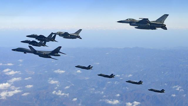 <p>Military drills by US and South Korean planes have prompted North Korea to say war is inevitable </p>