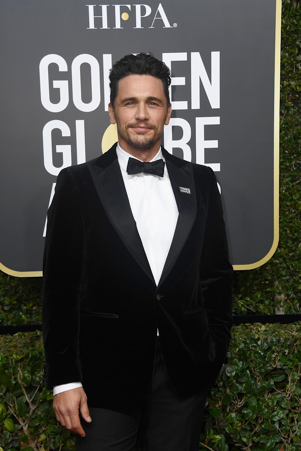 James Franco attends the 75th Annual Golden Globe Awards. (Photo: Getty Images)
