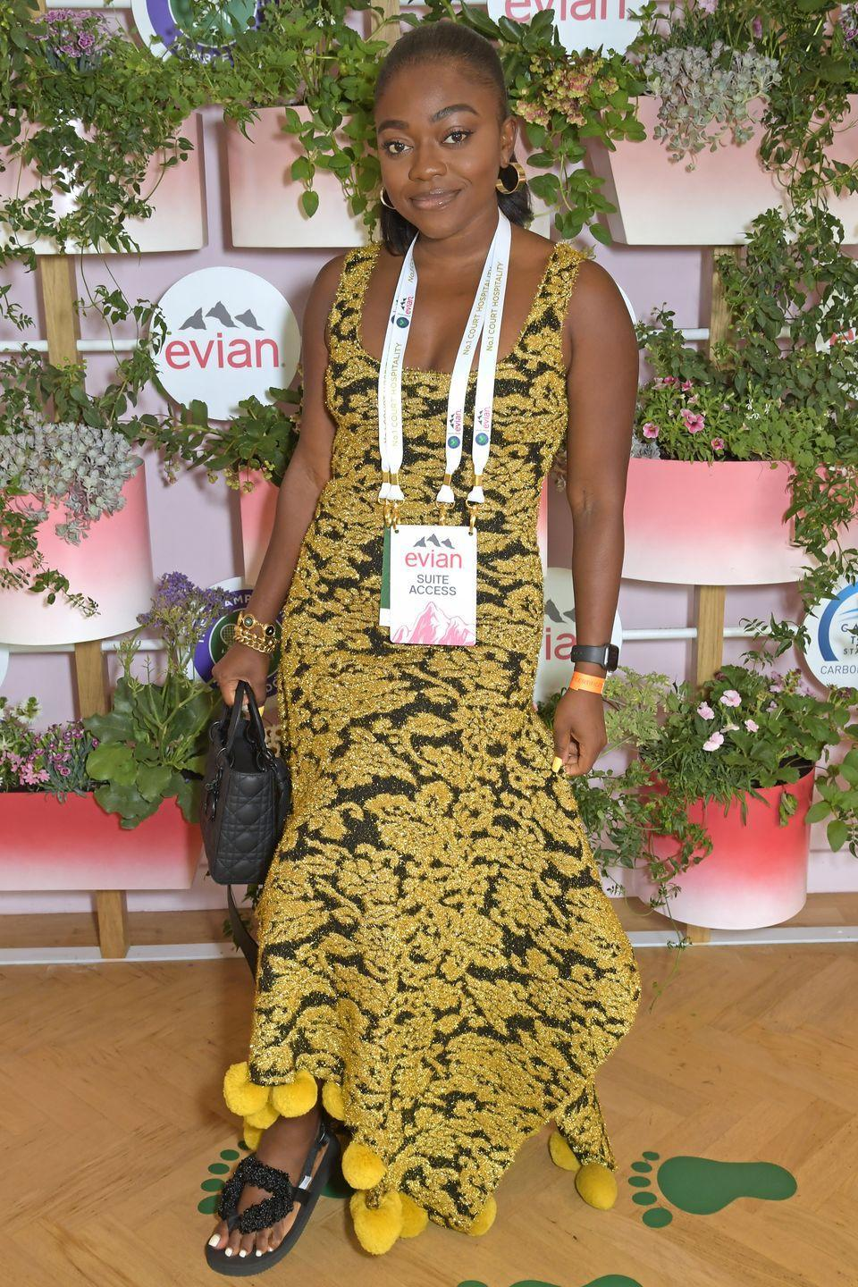 <p>Entrepreneur Fisayo Longe dressed up for the occasion in a printed dress and statement sandals. </p>
