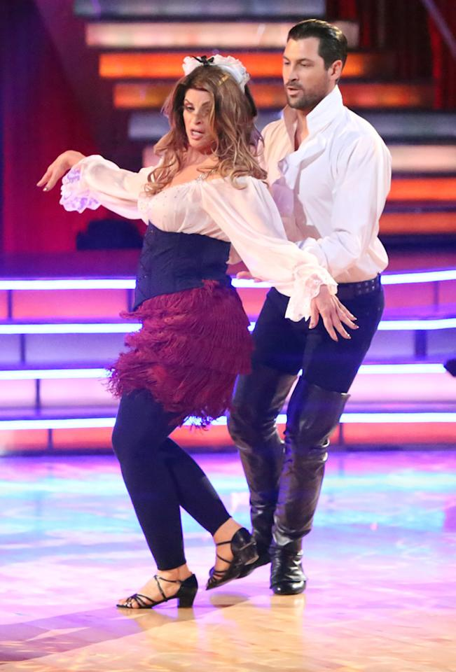 "Kirstie Alley and Maksim Chmerkovskiy perform on ""Dancing With the Stars: All-Stars."""