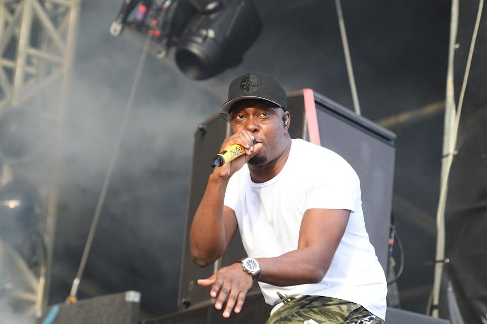 LONDON, ENGLAND - JUNE 01:  Dizzee Rascal performs on the East stage at All Points East Festival in Victoria Park on June 1, 2019 in London, England.  (Photo by Gus Stewart/Redferns)