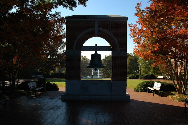 Carillon Garden on Clemson University's campus