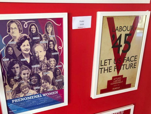 Posters on sale at Labour Party conference 2021 (Photo: HuffPost UK)