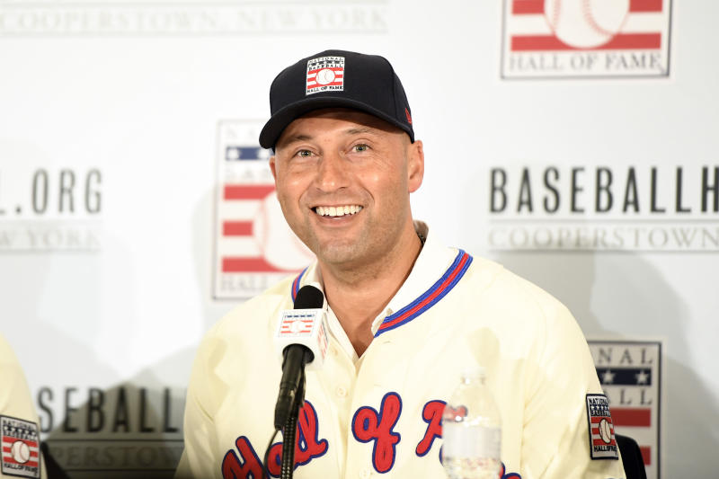 The Hall of Fame voter who didn't vote for Derek Jeter wasn't part of Tuesday's ballot reveal. (Danielle Parhizkaran-USA TODAY Sports)