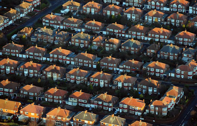 Aerial view of houses in Newcastle.