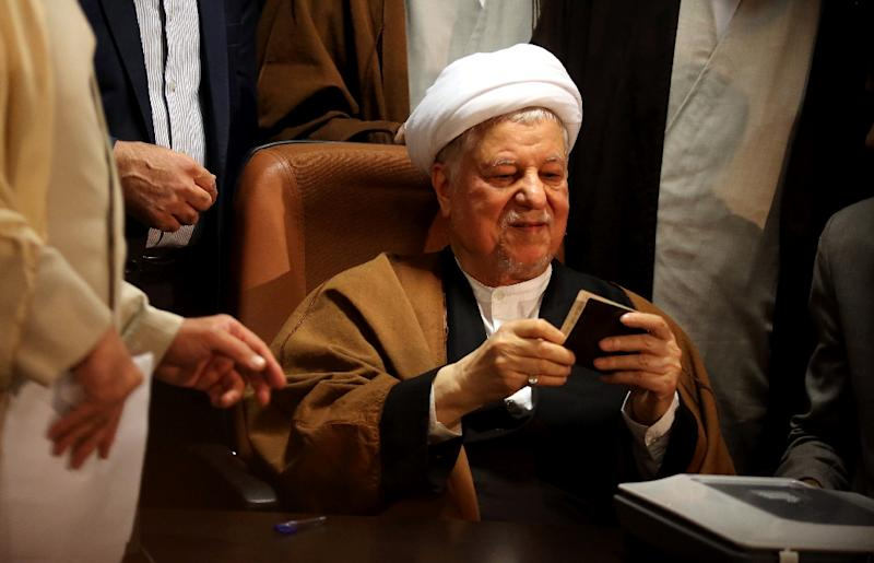 Iranian former president, Akbar Hashemi Rafsanjani's presidency was known a breathing space after the end of the 1980-88 Iran-Iraq war, was marked by reconstruction, cautious reform and repairs to Iran's relations with its Arab neighbours (AFP Photo/ATTA KENARE)