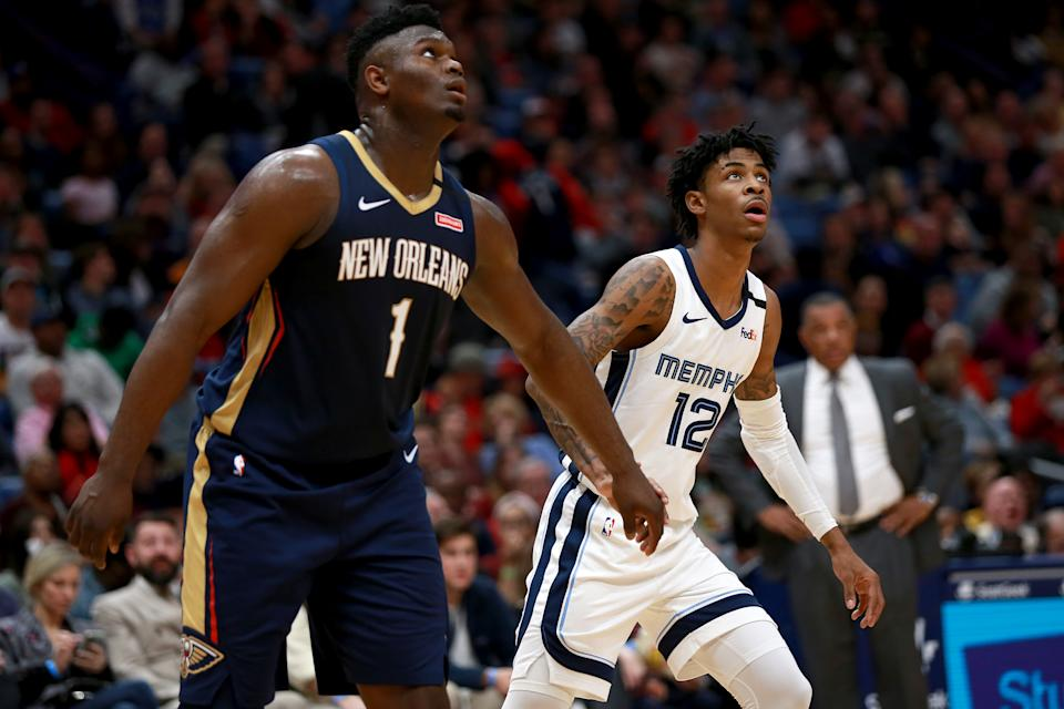 Zion Williamson exceeded expectations when he was on the court, but Ja Morant won't be denied. (Sean Gardner/Getty Images)