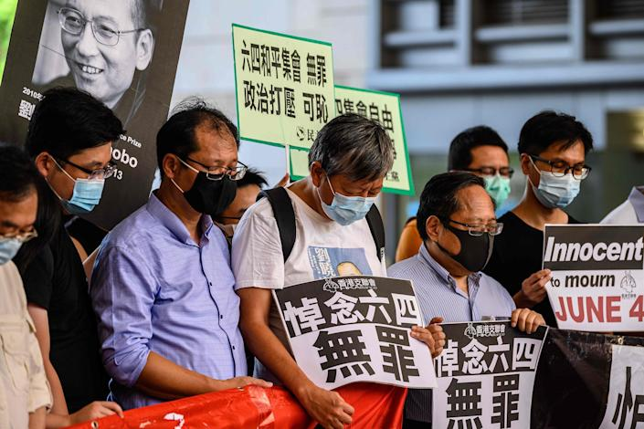 Image: Protesters in Hong Kong (Anthony Wallace / AFP - Getty Images)