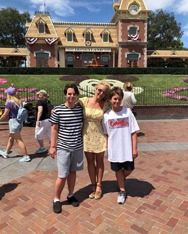 Britney Spears and her sons | Britney Spears/Instagram