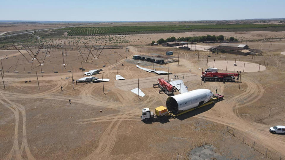 """Construction of the """"Monegros 8.6 Airlines Experience"""" stage begins - Credit: Monegros Desert Festival/Facebook"""