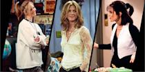 """<p>Friends: The Reunion has had many of us taking a trip down memory lane in celebration of our <a href=""""https://www.harpersbazaar.com/uk/culture/culture-news/a36520679/friends-reunion-comfort-watch/"""" rel=""""nofollow noopener"""" target=""""_blank"""" data-ylk=""""slk:favourite comforting sitcom"""" class=""""link rapid-noclick-resp"""">favourite comforting sitcom</a>. Turns out there's a psychological explanation for us continually re-watching old favourites; it's a form of easily tapped-into nostalgia that rewards your brain with a natural high – something we have been in dire need of in lieu of actual friends during lockdown.</p><p>So, if you're looking for yet another excuse to binge-watch all 10 seasons of Friends once again, here it is: the fashion. Watching a decade of nostalgic style is a treat in itself, but on closer inspection, Rachel, Phoebe and Monica are actually all serious contenders to be timeless style muses. While many things about the show haven't dated so well - the glaring lack of diversity, for one - the fashion has firmly survived the test of time, and there are many classic style lessons that we can learn from the three leading ladies. Look to Rachel for excellent office-wear, classic separates and a dose of athleisure; turn to Monica for a lesson in timeless monochrome or the enduring appeal of a plaid shirt; while those with a more bohemian sensibility will be drawn to Phoebe's oversized knitwear, chunky boots and excessive hair accessorising. </p><p>From ice-cream colours to sheer tops, slip dresses and matchy-matchy tailoring, here are the looks we are planning to emulate this year from everyone's favourite sitcom. </p><p>Friends: The Reunion is now available to stream on <a href=""""https://go.redirectingat.com?id=127X1599956&url=https%3A%2F%2Fwww.nowtv.com%2F&sref=https%3A%2F%2Fwww.harpersbazaar.com%2Fuk%2Ffashion%2Fstyle-files%2Fg16755293%2Ffriends-fashion-best-moments%2F"""" rel=""""nofollow noopener"""" target=""""_blank"""" data-ylk=""""slk:Now TV"""" class=""""link rapid-noclick-"""