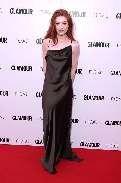 <p>Nicola went for 90s vibes in this uber cool black slip-dress. <i>[Photo: Mike Marsland/Mike Marsland/WireImage]</i></p>