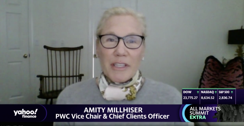 """Amity Millhiser, PWC vice chair and chief clients officer, appears on """"The Final Round."""""""