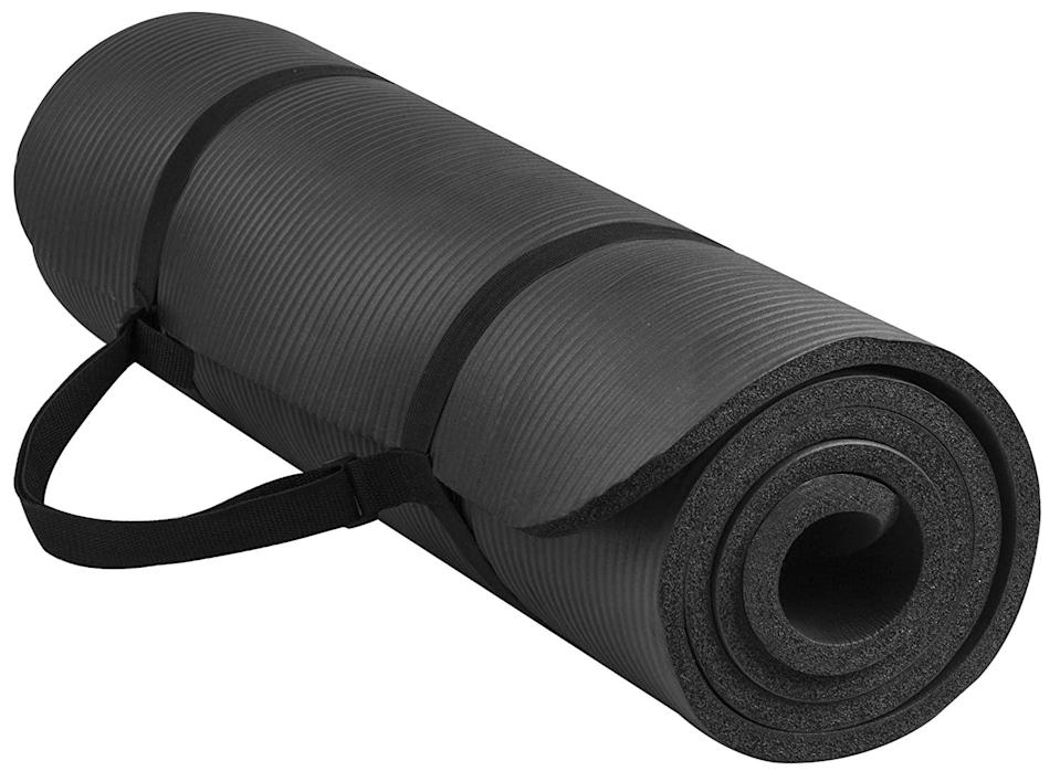 "<br><br><strong>BalanceFrom</strong> All-Purpose 1/2-Inch Extra Thick Yoga Mat, $, available at <a href=""https://amzn.to/2H07kLc"" rel=""nofollow noopener"" target=""_blank"" data-ylk=""slk:Amazon"" class=""link rapid-noclick-resp"">Amazon</a>"