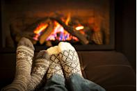 """<p>The Dutch concept of coziness has been all the rage, and with fall on the horizon, it's hygge time again. A thick, <a href=""""https://www.oprahmag.com/style/g28188946/cute-sweaters-for-fall/"""" rel=""""nofollow noopener"""" target=""""_blank"""" data-ylk=""""slk:chunky knit sweater,"""" class=""""link rapid-noclick-resp"""">chunky knit sweater,</a> steaming mug of cider, flickering <a href=""""https://www.oprahmag.com/life/g27562264/best-fall-scented-candles/"""" rel=""""nofollow noopener"""" target=""""_blank"""" data-ylk=""""slk:fall-scented candles"""" class=""""link rapid-noclick-resp"""">fall-scented candles</a>, and snuggles by the fire: sounds like a perfect autumn evening to us. Pro tip: if you don't have a real fire you an stream YouTube clips of kindling. </p>"""
