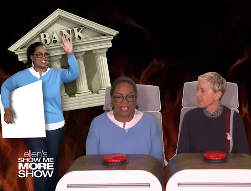 Oprah visited the bank to stand in line for fun after almost 30 years: The Ellen Show Youtube