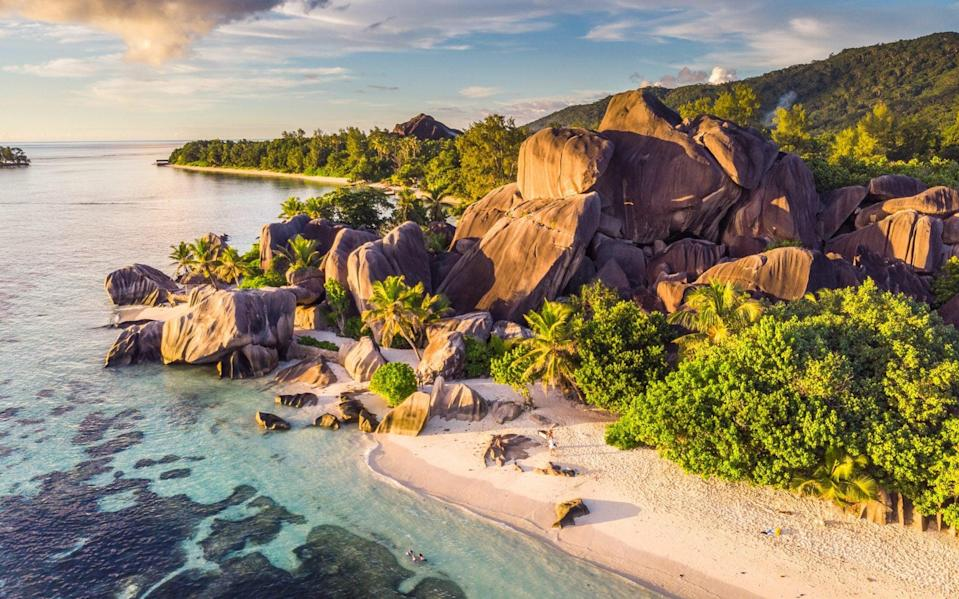 The Seychelles is one of the first countries in the world to say vaccinated arrivals can avoid quarantine - Getty