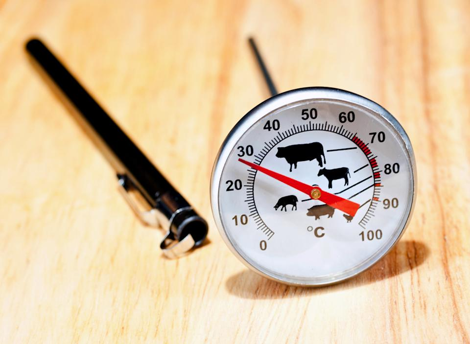 Meat thermometer cooking temperatures