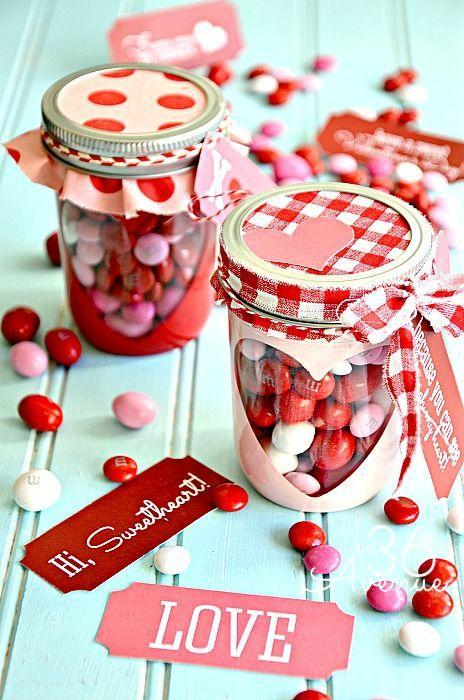 """<p>Who's making one of these cute patterned jars for us?</p><p><strong>Get the tutorial at <a href=""""http://www.the36thavenue.com/free-valentine-printable-candy-jar/"""" rel=""""nofollow noopener"""" target=""""_blank"""" data-ylk=""""slk:The 36th Avenue"""" class=""""link rapid-noclick-resp"""">The 36th Avenue</a>. </strong></p><p><a class=""""link rapid-noclick-resp"""" href=""""https://www.amazon.com/s?k=redn+and+white+fabric&ref=nb_sb_noss_2&tag=syn-yahoo-20&ascsubtag=%5Bartid%7C10050.g.93%5Bsrc%7Cyahoo-us"""" rel=""""nofollow noopener"""" target=""""_blank"""" data-ylk=""""slk:SHOP RED AND WHITE FABRIC""""><strong>SHOP RED AND WHITE FABRIC</strong></a><br></p>"""