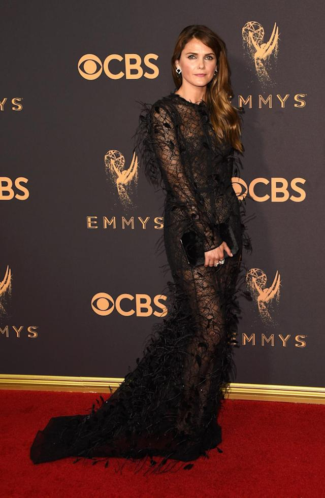 <p>Keri Russell attends the 69th Annual Primetime Emmy Awards on September 17, 2017.<br> (Photo: Getty Images) </p>