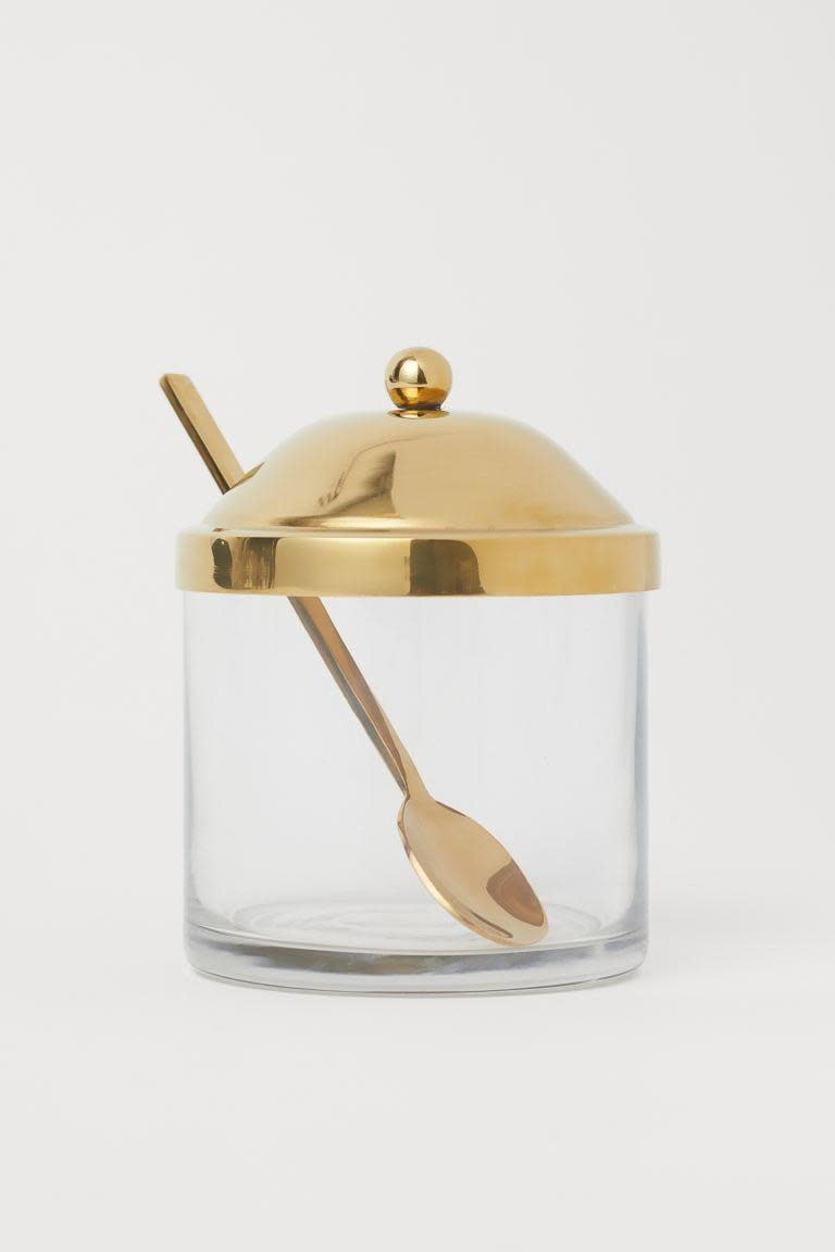 <p>This <span>H&amp;M Glass Jam Jar</span> ($15) would look so cute on your countertop.</p>