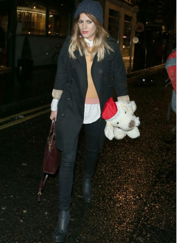 Caroline Flack Hides Her Legs In Coated Skinny Jeans For Winter Outing - Get The Look