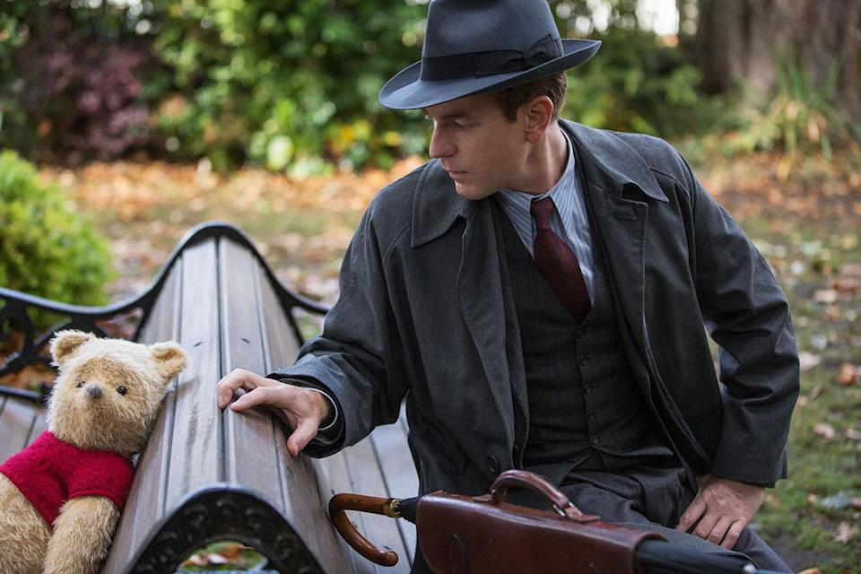 Christopher Robin (Ewan McGregor) is reunited with his longtime friend Winnie the Pooh in Disney's <i>Christopher Robin</i>. (Disney)