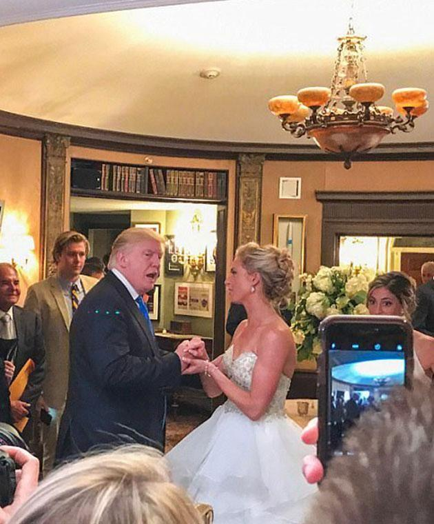 The president even danced with the bride. Photo: Instagram