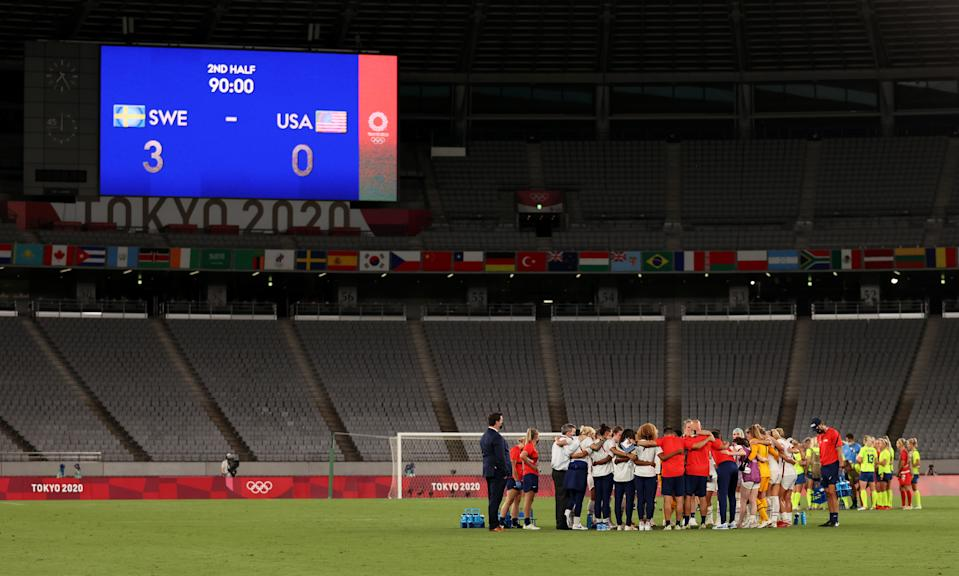 The USWNT will play in empty stadiums during these Olympics, and so far they're not fans. (Photo by Dan Mullan/Getty Images)