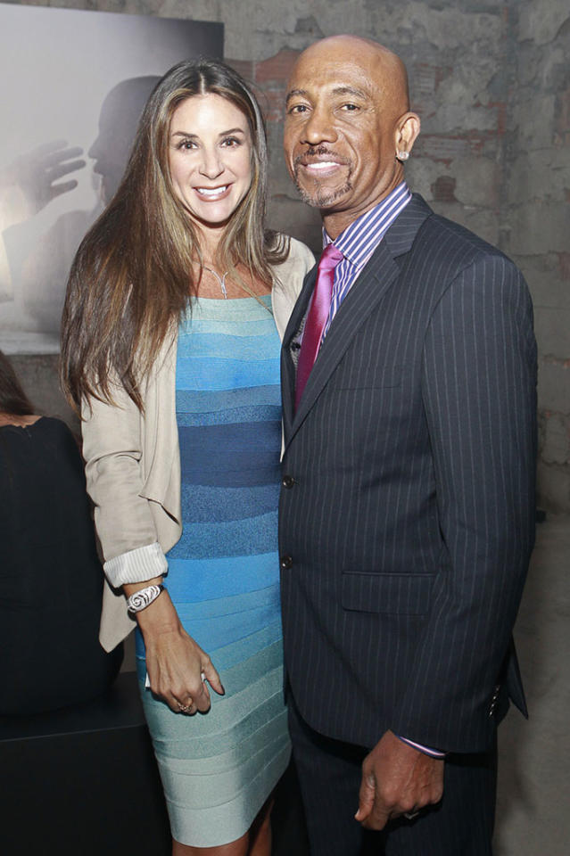 "Montel Williams and wife Tara Fowler at ""The Bible Experience"" opening night gala, a rare exhibit of biblical artifacts, in New York City on Tuesday, March 19 in New York."