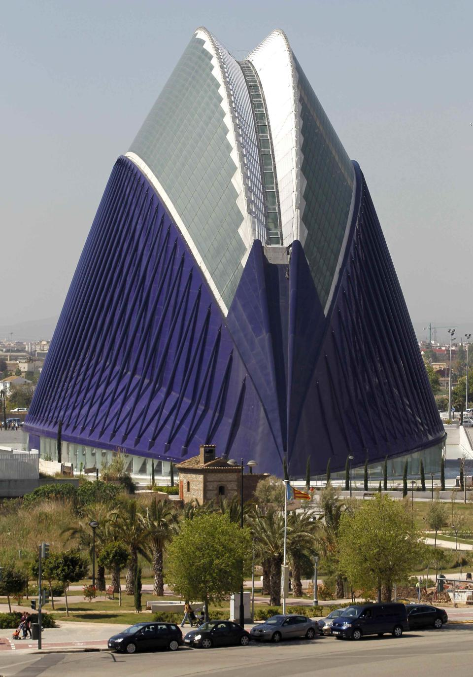 The Agora building at the City of Arts and Sciences. The building's cost escalated up to 86 million euros, according to local media. (REUTERS/Heino Kalis)