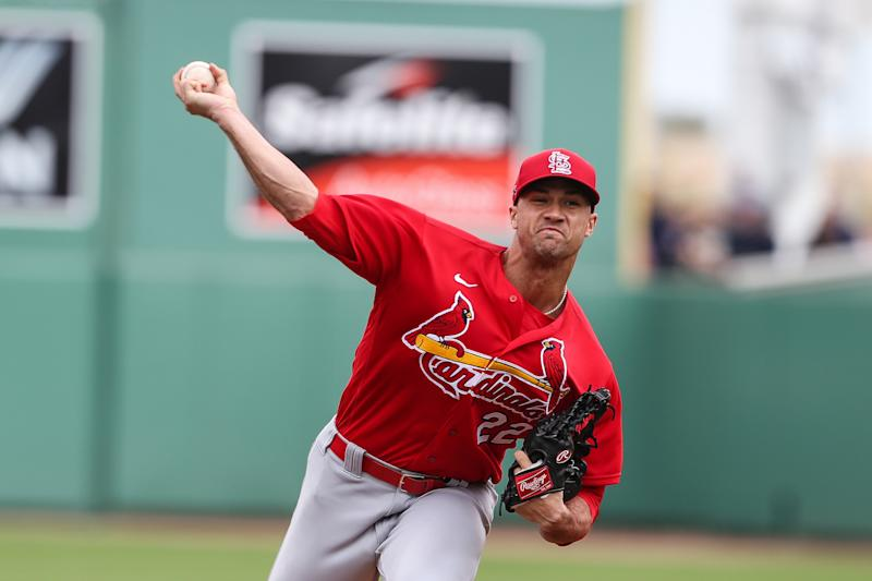 Jack Flaherty #22 of the St. Louis Cardinals