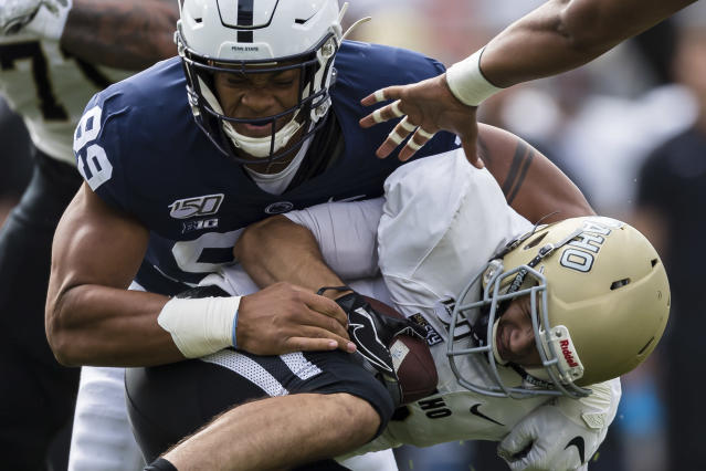 Yetur Gross-Matos was brilliant in one half of work in a blowout of Idaho. (Getty Images)