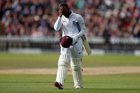 Cricket - England vs West Indies - First Test - Birmingham, Britain - August 19, 2017   West Indies' Jermaine Blackwood looks dejected after their first innings   Action Images via Reuters/Paul Childs