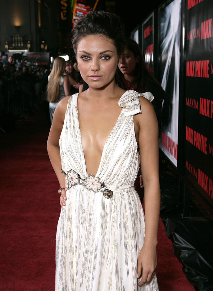 """<a href=""""http://movies.yahoo.com/movie/contributor/1800281432"""">Mila Kunis</a> at the Los Angeles premiere of <a href=""""http://movies.yahoo.com/movie/1810007086/info"""">Max Payne</a> - 10/13/2008"""