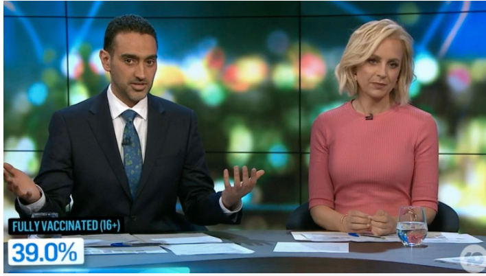 Waleed Aly and Carrie Bickmore talking about Guy Sebastian on The Project
