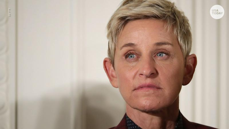Ellen DeGeneres apologized to her talk show staff Thursday after a review of complaints of worker mistreatment found 'deficiencies.'
