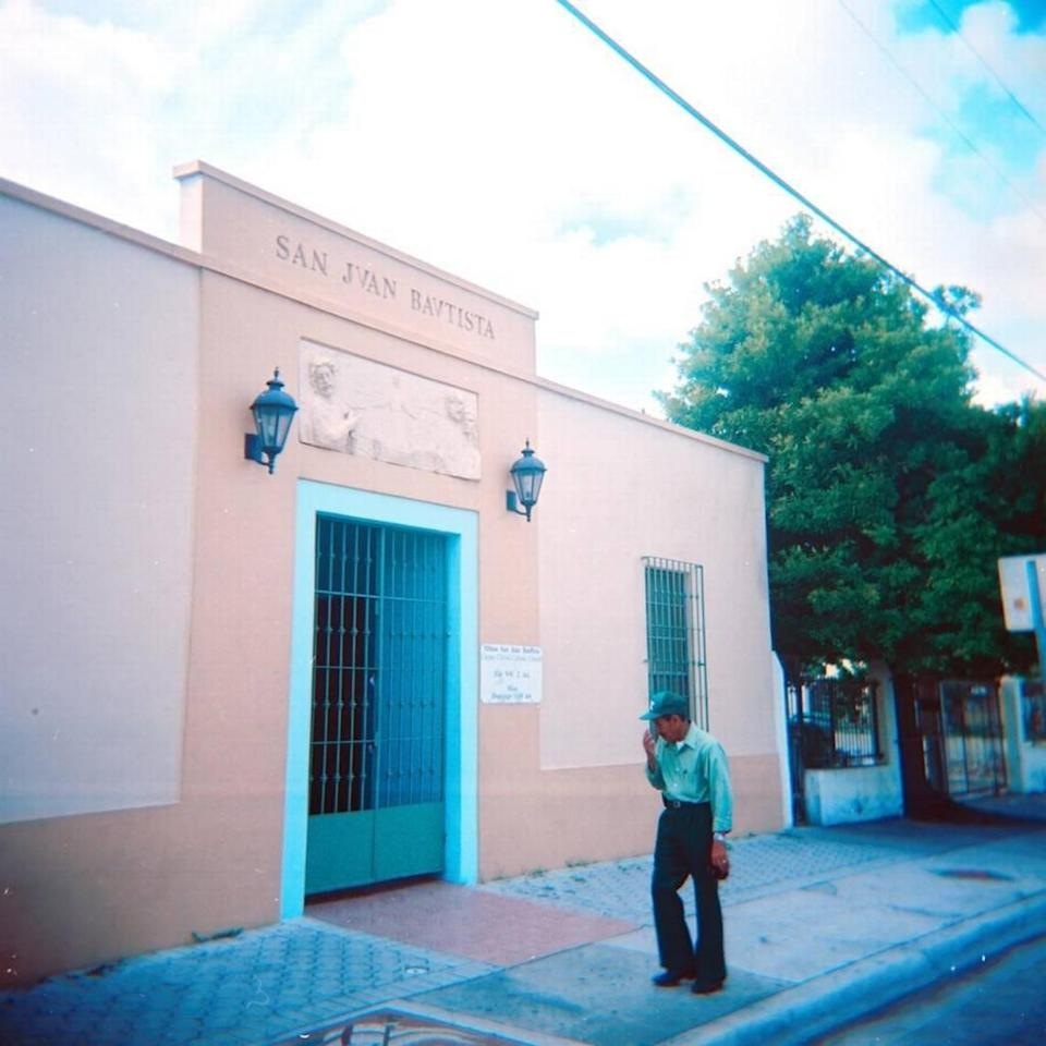The San Juan Bautista Catholic mission church in Wynwood sits just north of the block that a Texas developer wants to redevelop.