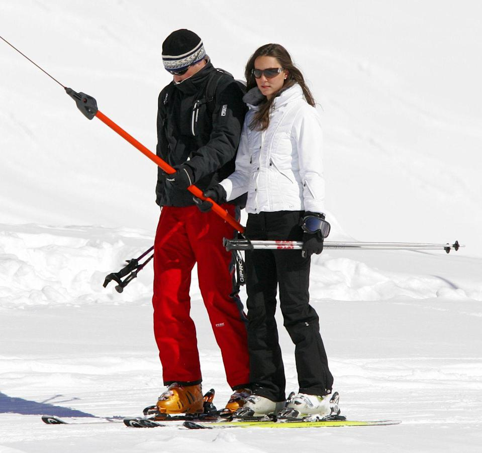 <p>The couple, officially back together, took a holiday in Switzerland. They did plenty of skiing, as Middleton has always been one for an active vacation. </p>