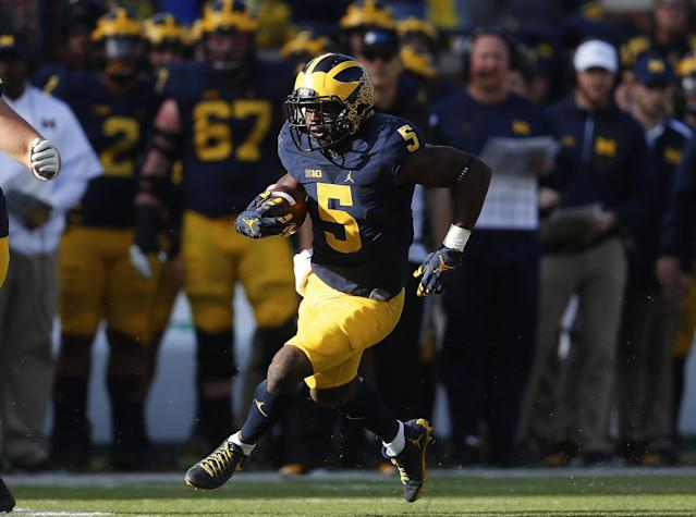 Michigan's Jabrill Peppers has unique versatility, and that suits the Patriots well. (AP)