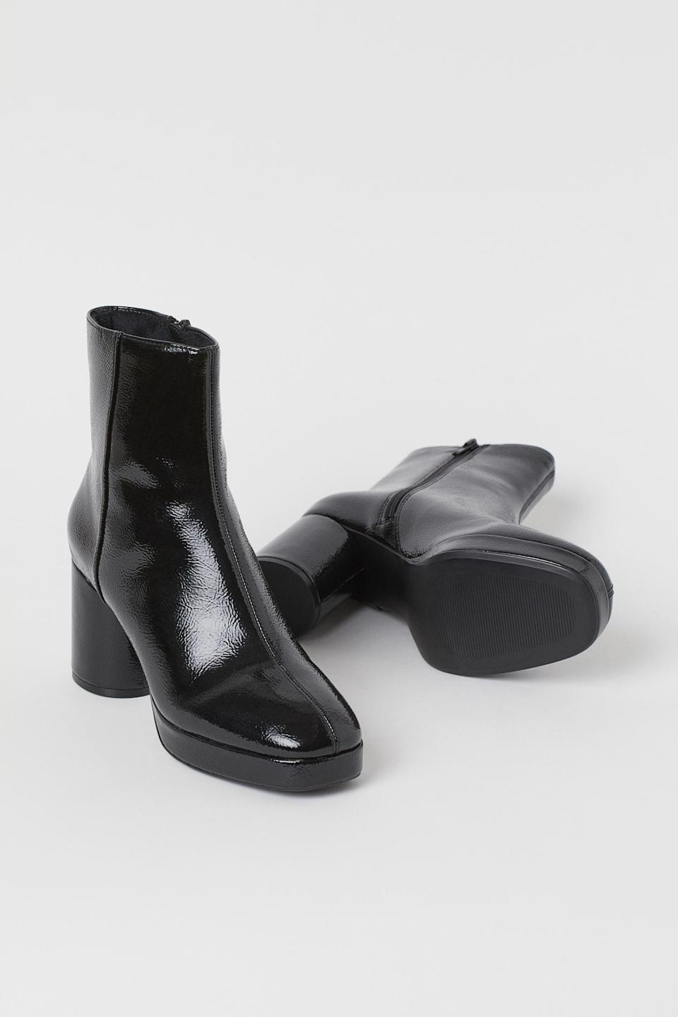 <p>These <span>Warm-lined High Profile Boots</span> ($50) bring the right amount of polish.</p>