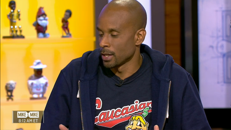 Bomani Jones makes statement on Indians logo with 'Caucasians' shirt