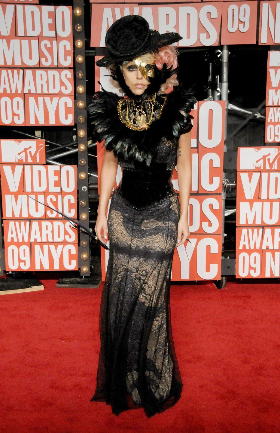 <p>Lady Gaga showed up to the 2009 Video Music Awards in typical Lady Gaga form - weird but wonderful.</p>