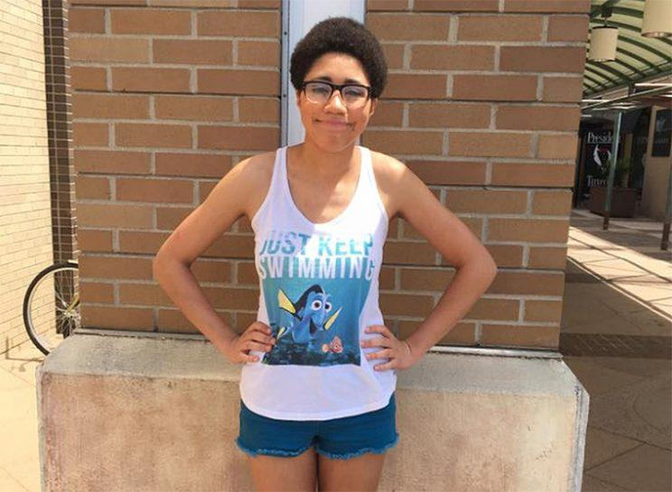 Hannah Pewee was recently kicked out of a mall in Michigan for wearing shorts and a tank top