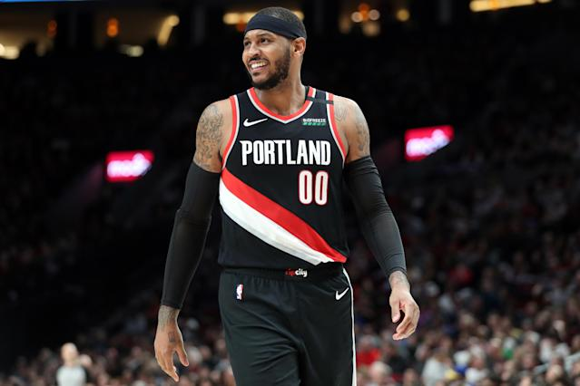 Though he's played just 32 games with the Trail Blazers, Carmelo Anthony doesn't see himself retiring anywhere other than Portland. (Abbie Parr/Getty Images)
