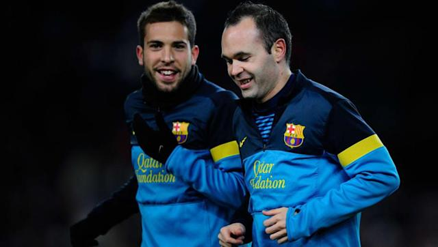 Win Barcelona defender Jordi Alba has revealed that his international teammate Andrés Iniesta predicted Spain's incredible 4-0 win over Italy in the final of Euro 2012 just hours before kick off. Iniesta will leave Catalonia at the end of the season after 22 years with the club, where the 34-year-old has cemented his place as one of the biggest legends ever to grace the pitch at the Camp Nou. And Iniesta is not just held in high regard at Barcelona. The veteran playmaker scored the only goal...