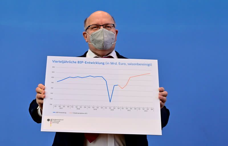 German Economy Minister Altmaier presents updated GDP growth forecast